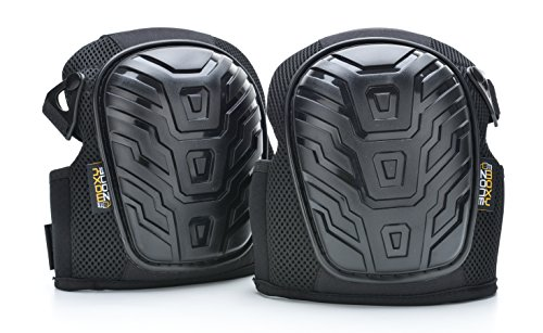 Moxy Zone Professional Knee Pads - Heavy Duty Foam Padded Shell and Comfortable Gel Cushion - Kneepads for Construction, Yard Work, Gardening, Flooring, Tile - Adjustable Straps for Men and Women from Moxy Zone