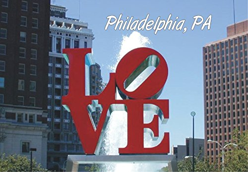 LOVE Statue, Philadelphia, Pennsylvania, City, PA, Love Park, Souvenir Magnet 2 x 3 Fridge Photo - Philadelphia Shops Airport In
