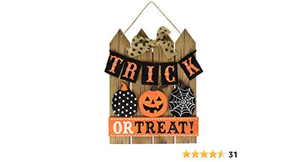 Amazon Com Amscan Trick Or Treat Halloween Sign For Door Or Home Décor Toys Games