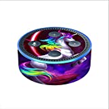 Skin Decal Vinyl Wrap for Amazon Echo Dot 2 stickers skins cover (2nd generation) / Unicorn Rainbows Space