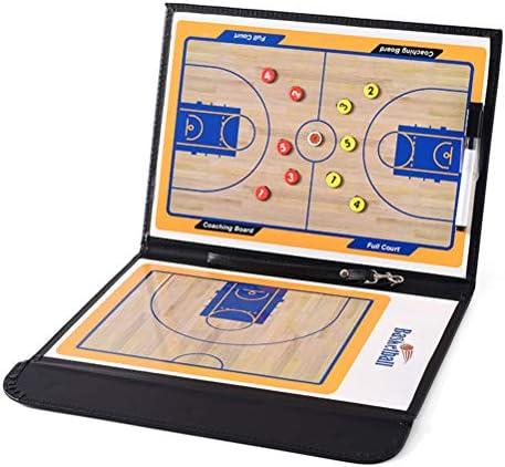 Basketball Coaching Board Faltbare Strategie-Klemmbrett mit trocken abwischbarem Stift