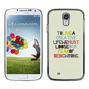 Caucho caso de Shell duro de la cubierta de accesorios de protección BY RAYDREAMMM - Samsung Galaxy S4 I9500 - Creative Life;