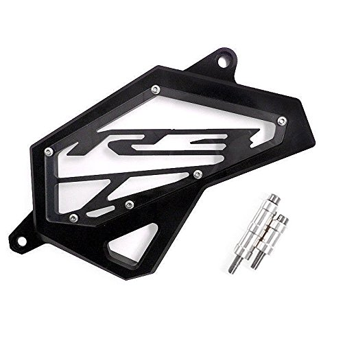 XX eCommerce Motorcycle Motorbike Billet Aluminum Front Chain Sprocket Cover For 2015-2016 Yamaha YZF-R3 YZF R3 15 16 (Black)