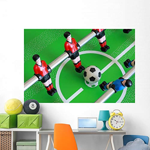 Wallmonkeys Foosball Table Match Wall Mural Peel and Stick Graphic (72 in W x 48 in H) WM292129 - Championship Foosball