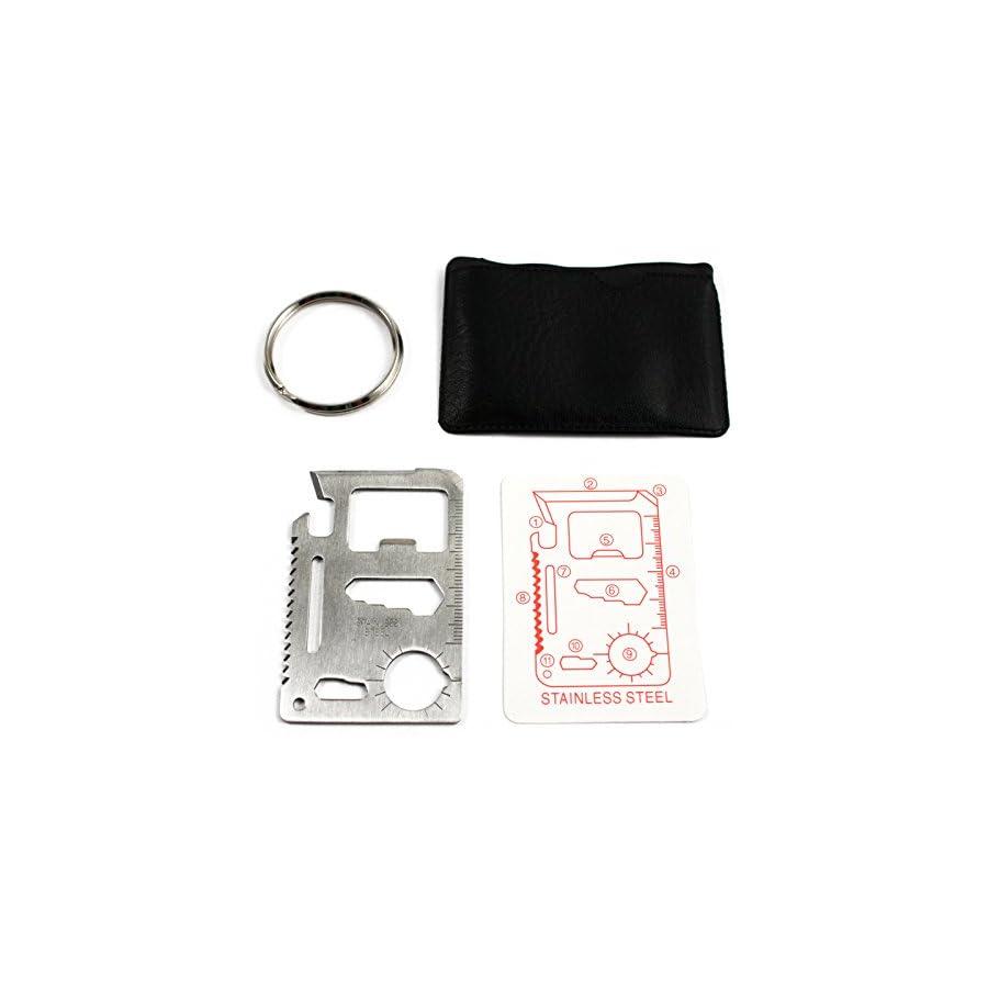 MT908 11 Function Credit Card Size Survival Pocket Tool 10pack & Keyrings