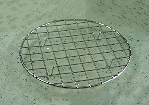 B&S FEEL Multi-Purpose Stainless Steel Round Baking and Cooling Rack, 8.25-Inches (Stainless Steel Canning Rack compare prices)