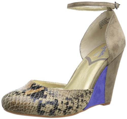 Seychelles Women's Fight Fire With Fire Wedge Pump,Natural Python,10 M (Python Wedge Pumps)