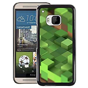 A-type Arte & diseño plástico duro Fundas Cover Cubre Hard Case Cover para HTC One M9 (Craft Game Computer Mine Blocks Pc)