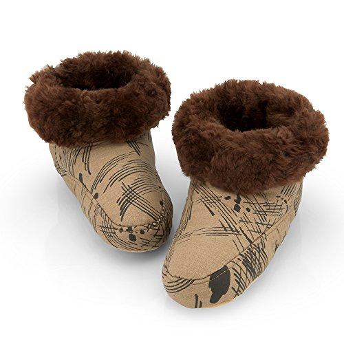Pantofole In Pelle Di Agnello Milano Marrone (pantofole)
