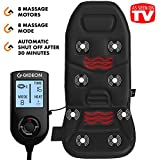 full back massager - Gideon™ Powerful Vibrating Massager Seat Cushion for Back, Shoulder and Thighs with Heat Therapy / 8-Massaging Programs - Massage, Relax, Sooth and Relieve Thigh, Shoulder and Back Pain
