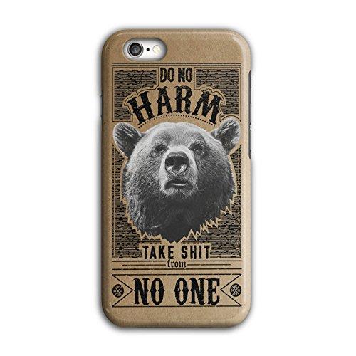 [No Harm Grizzly Bear Wild Animal NEW Black 3D iPhone 6 / 6S Case | Wellcoda] (Creative Team Costume Ideas)