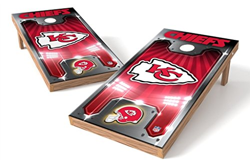 PROLINE NFL Kansas City Chiefs 2'x4' Cornhole Board Set - Plate Design