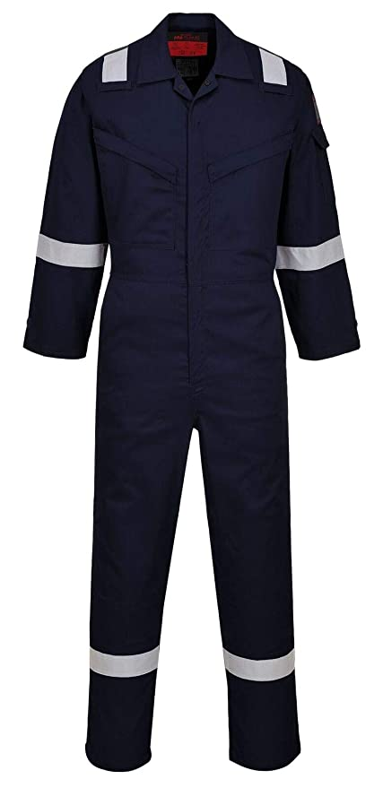 279dc29dd8a1 Amazon.com  UAF73 Araflame FR Coverall For Man Flame Resistant Clothing For  Men and Women - Mechanic Coveralls(Navy