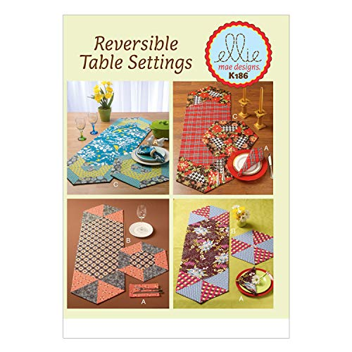 Sewing Table Runner - KWIK-SEW PATTERNS K0186 Napkins, Placemats and Runners, One Size Only