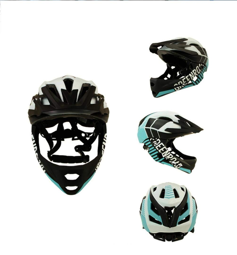 14-Loch-Ventilationkinder Fahrradhelm Motorrad Vollgesichts Helm Kind Schutzausrüstung Sport Schutzausrüstung Reiten Skaten,Weiß