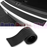 Auto Parts Club Rear Bumper Protector - Rear Bumper Guard Universal Black Rubber Door Sill Guard for Car Pickup SUV Truck Scratch-Resistant Boot Sill Protector - Easy D.I.Y. Installation(35.8 inch)