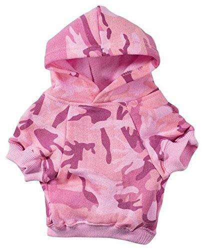 "Casual Canine Camo Hoodie for Dogs, 24"" XXL, Pink"