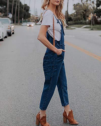 Petos Marino casual Yiqi Pantalón Pantalones Mujer Monos Vaqueros Azul Largo Elasticos RSTwASfq