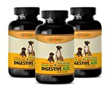 BEST PET SUPPLIES LLC digestive dog supplement - DIGESTIVE AID - FOR DOGS ONLY - PROBIOTICS - BEEF FLAVOR - CHEWABLE - dog digestive enzymes treats - 180 Chews (3 Bottle)
