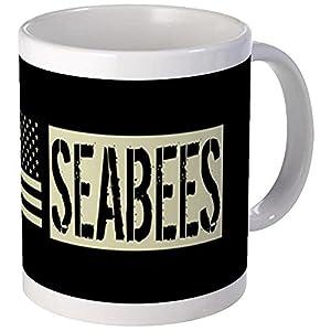 CafePress - U.S. Navy: Seabees (Black Flag) Mug - Unique Coffee Mug, Coffee Cup by CafePress
