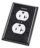 Furutech 104-D Carbon Fiber Hi-Performance Duplex Outlet Cover Plate