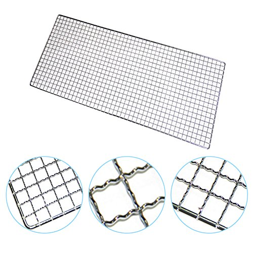 Barbecue Net, Rectangle Shape Grill Baking Grid Metal Wire for Outdoor Grilling Camping, 30cm x 26cm