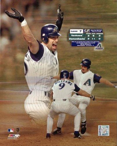 Luis Gonzales Arizona Diamondbacks 2001 World Series Game 7 Photo (Size: 8