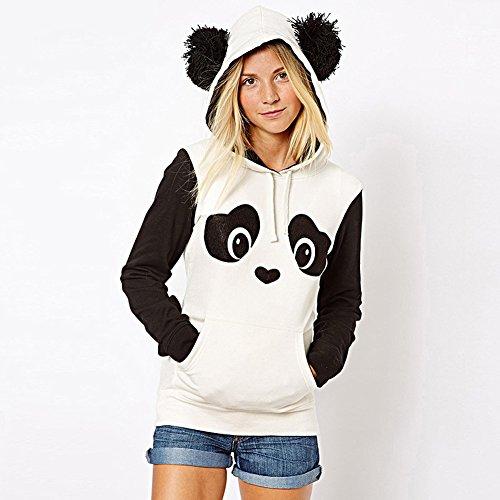 MEXUD Kids Girls White Black Fleece Hoodie Tops - Cute Hoodie For Teen Girls