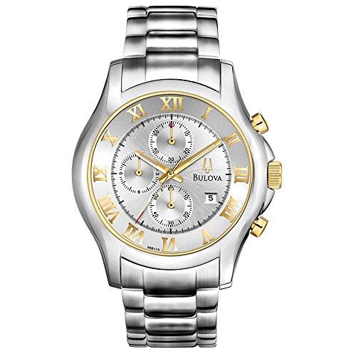 Bulova Men's 98B175 Chronograph Stainless Steel Bracelet Watch