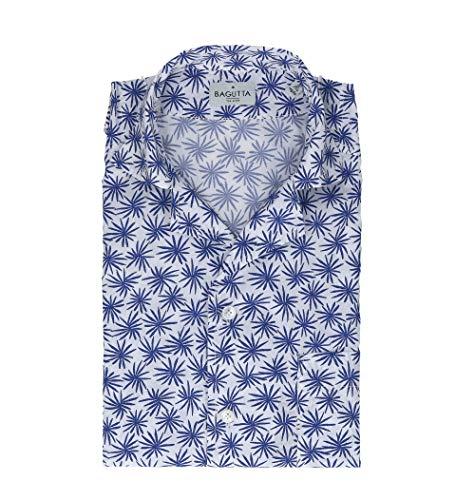 Bagutta Men's Mauiem09267650 White Cotton Shirt