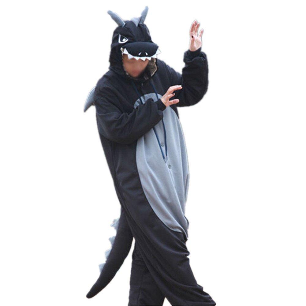 Amazon.com Lifeye Men Women Black Dragon Pajamas Animal Cosplay Costume Clothing  sc 1 st  Amazon.com & Amazon.com: Lifeye Men Women Black Dragon Pajamas Animal Cosplay ...