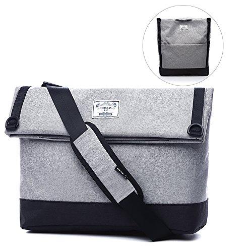 Bolsas de Hombro Lona Multifunción Dual Use Hand Bag Mochila Hiking Cycling Business Office para Hombre y Mujer Gray