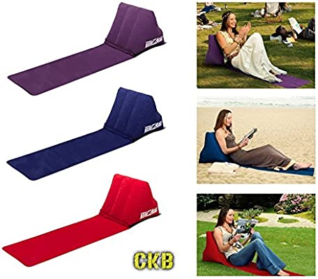 CKB LTD® Chill out Portable Travel Inflatable Lounger with Wedge ...