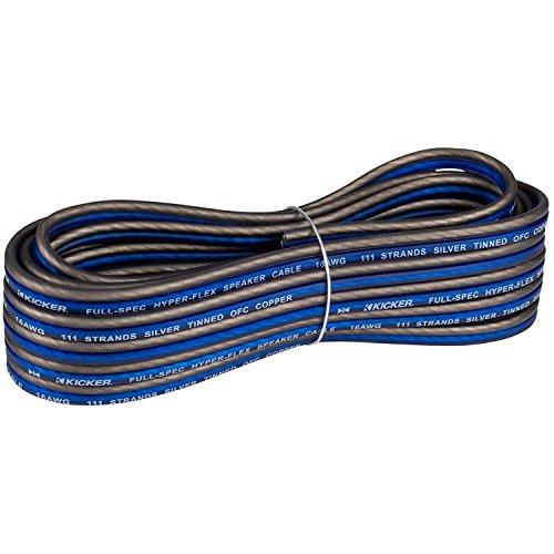 KICKER 09XW1620 X-Series Twisted Pair Speaker Wire (16-Gauge, 20 Feet) - Kicker Speaker Wire