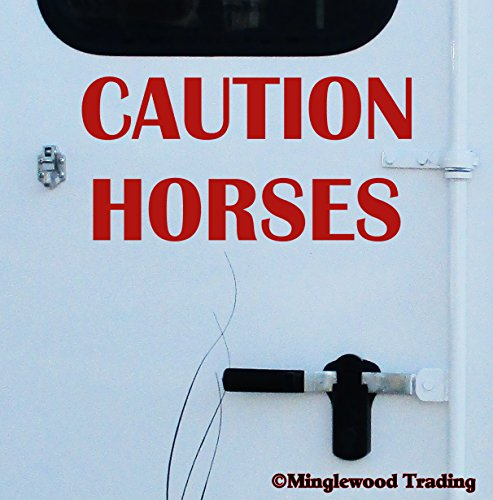jumping horse trailer decal - 3