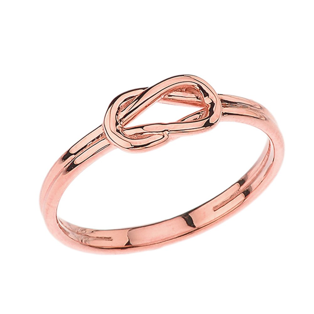 Modern 10k Rose Gold Hercules Love Knot Promise Ring (Size 7) by Claddagh Rings