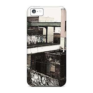 Iphone 5c Case Cover - Slim Fit Tpu Protector Shock Absorbent Case (graffiti Ghetto Personalized Graffiti) Kimberly Kurzendoerfer