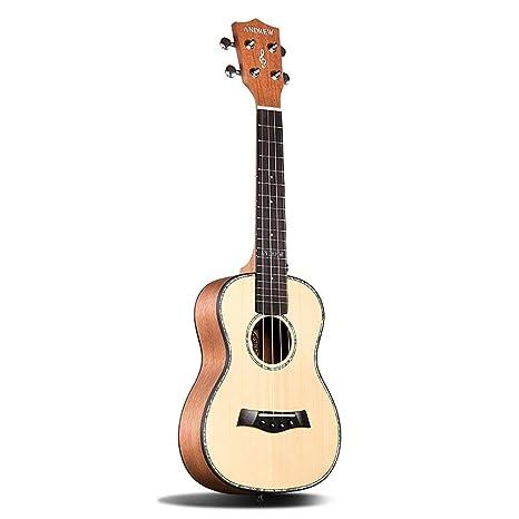 Miiliedy Spruce Ukulele Principiante Estudiante Pequeña Guitarra Hombres Mujeres 23 Pulgadas Ukulele the Coming Mejor Regalo