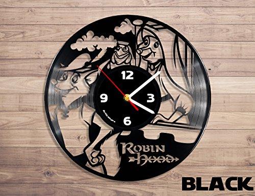 [Robin Hood Disney vinyl record wall clock] (Robin Clock)