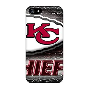 Shock Absorbent Hard Phone Cover For Iphone 5/5s (rvi1425OnoX) Support Personal Customs Attractive Kansas City Chiefs Pattern