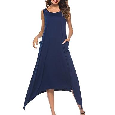 CHENYANG Sommerkleid Damen Maxikleid Strandkleider Damen Lang Partykleid  Maxi Kleider Elegant Stil 1 L ad0deeb39d