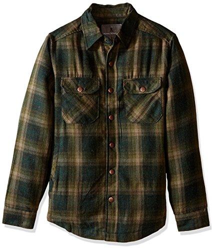 Royal Robbins Men's Shop Jack Shirt,GREEN GABLES ,Large Royal Robbins B0187SG1NG