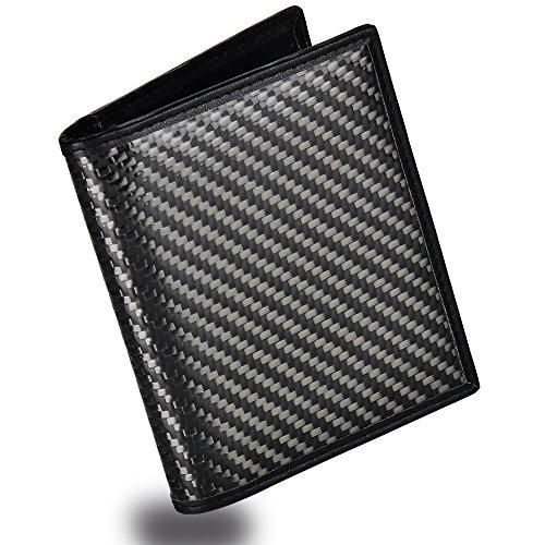 (Men's Bifold Trifold Wallet RFID Blocking Genuine Leather Slim Travel Wallet)
