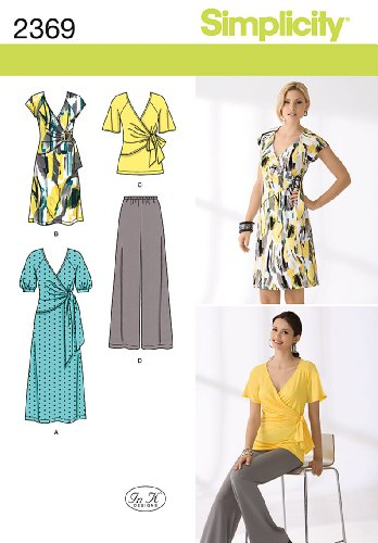 Simplicity Pattern 2369 Misses Knit Dress in 2 Lengths, Tunic and Pants Sizes 16-18-20-22-24