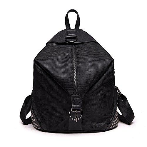 Bolso De Estudiante De Alta Capacidad De La Mochila Salvaje De La Moda Black