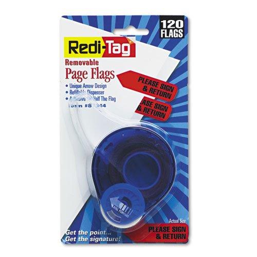 Redi-Tag Please Sign & Return Printed Arrow Dispenser Flags, 120 Flags per Dispenser, 1-7/8 x 9/16 Inches, Red (81344)