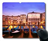 Beauty of European Sea Town Oblong Shaped Mouse Pad 7