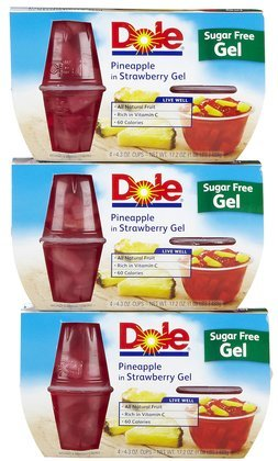 Dole Pineapple In Strawberry Gel 17.2OZ (Pack of 18) by Dole
