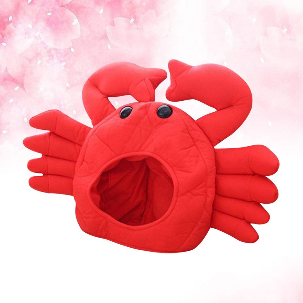 PrettyiaSea Life Animal Funny Crab Plush Party Fancy Dress Costume Party Hat