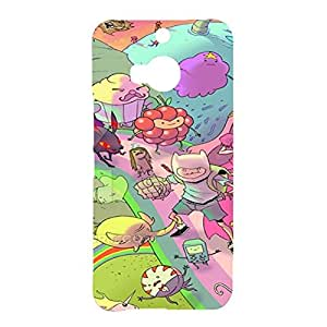 Vintage Custom Adventure Time with Finn&Jake Phone Case for Htc One M9 Plus,Cartoo&Anime TV Series Adventure Time Snap On Case Cover